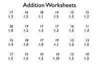 {Download PDF*} Free Printable addition worksheets grade 1 ...