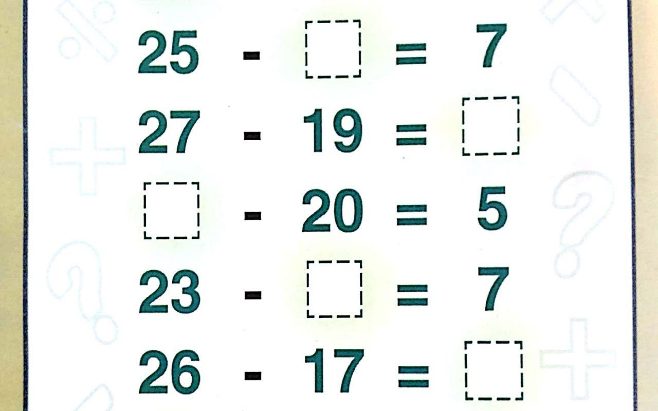 Download Free Printable Basic Subtraction Worksheets For Kids
