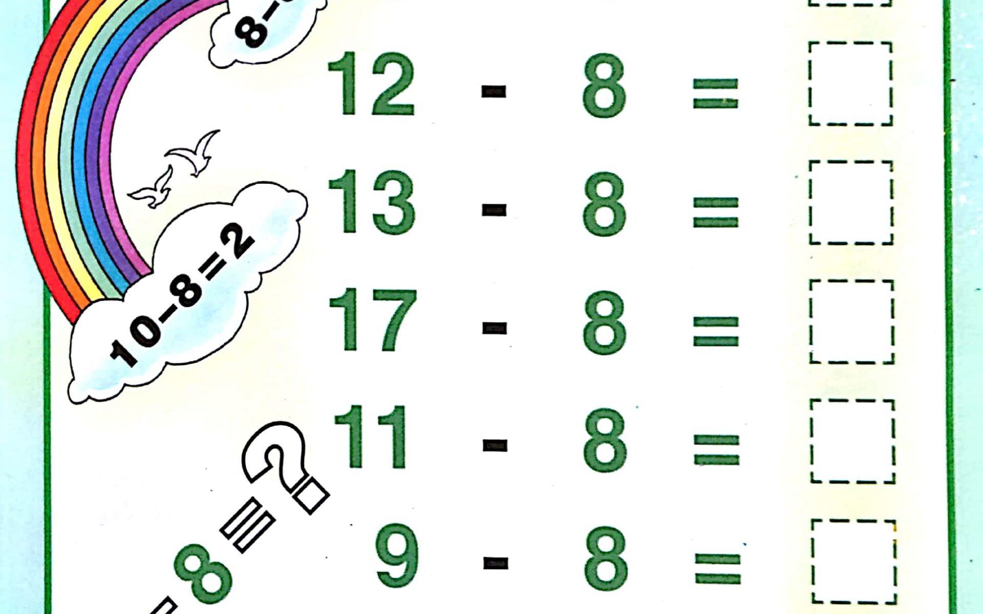 Download Free Printable Single Digit Subtraction Worksheets For Kids