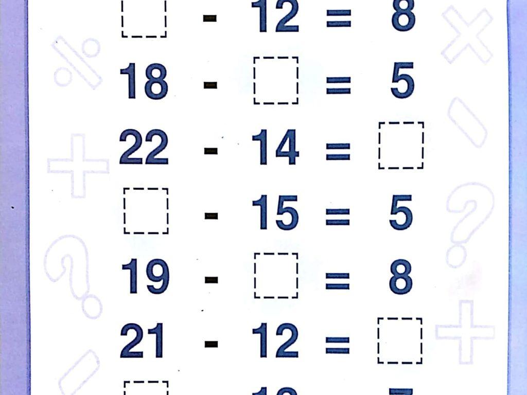 Download Free Printable Subtraction Worksheets 1st Grade For Kids