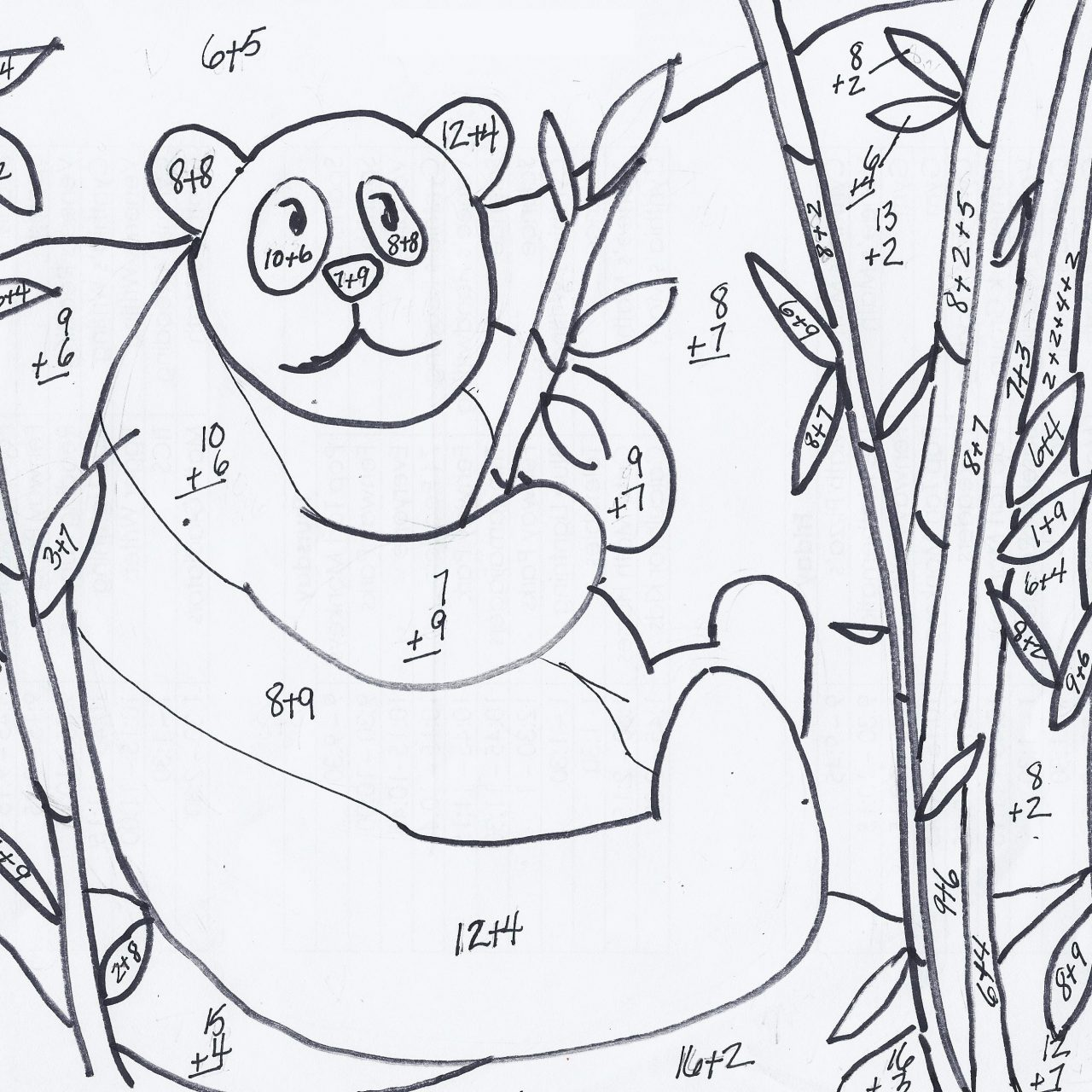 Addition Coloring Worksheets For 2nd Grade