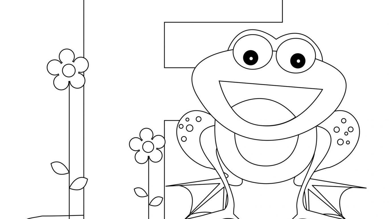 Coloring Worksheets Letter F