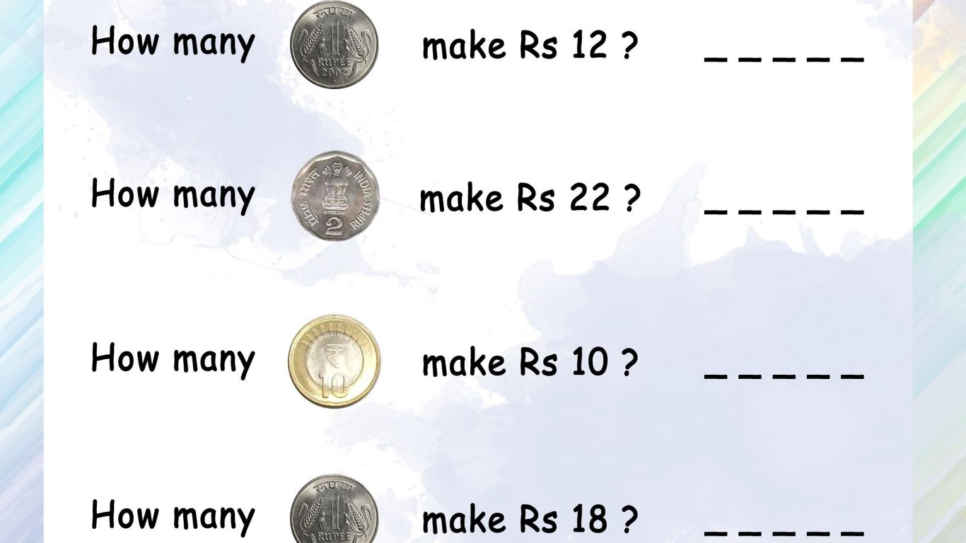 Money Addition Worksheets
