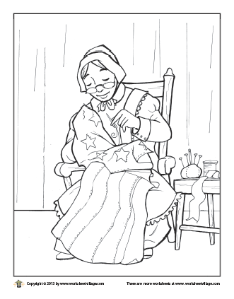 Betsy Ross Page Coloring Pages