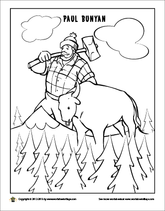 Paul Bunyan Coloring Page