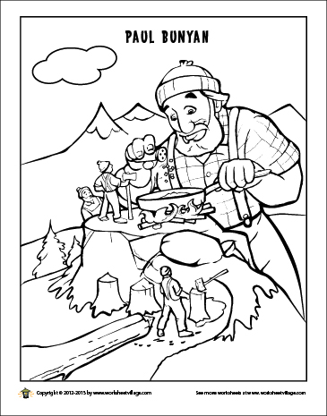 Paul Bunyan's Breakfast Coloring Page