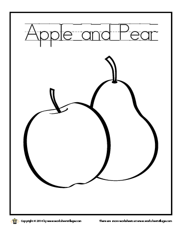 Apple and Pear Coloring Page