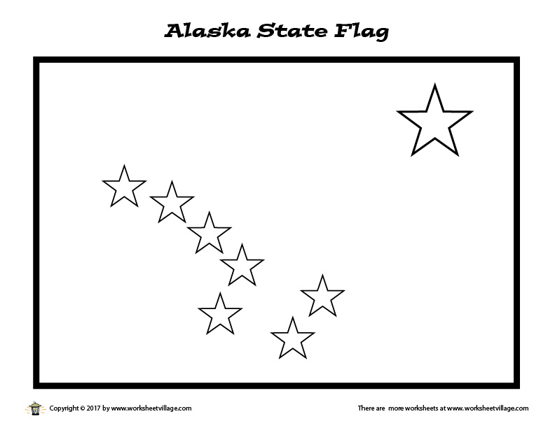 alaska state flag coloring page – worksheet village