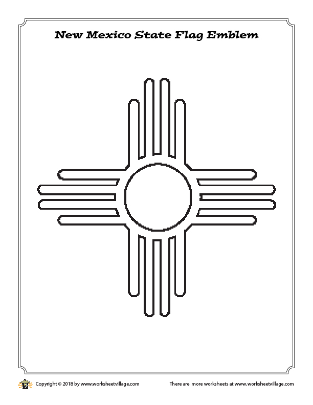 New Mexico State Flag Emblem Coloring Page