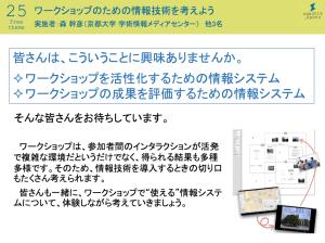 ws0043 201509「ワークショップのための情報技術を考える」(3日間・京都大学)1
