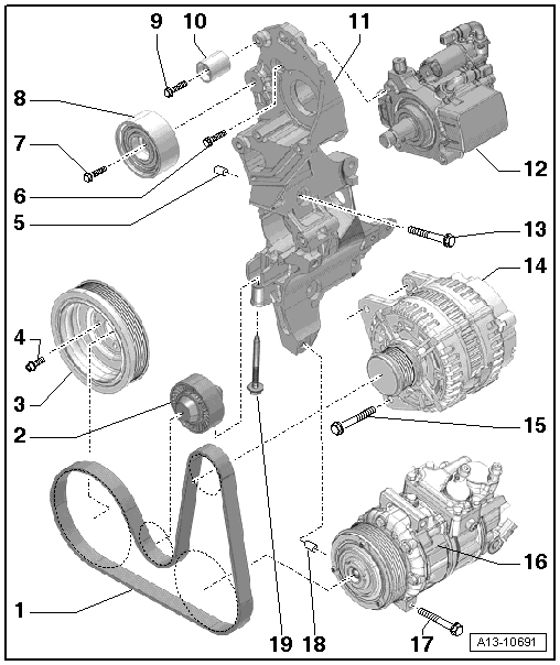 Audi Workshop Manuals > A1 > Power unit > 4-cylinder TDI