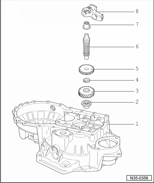 Audi Workshop Manuals > A1 > Power transmission > 5-speed