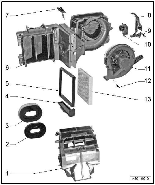 Audi Workshop Manuals > A1 > Heating, ventilation, air