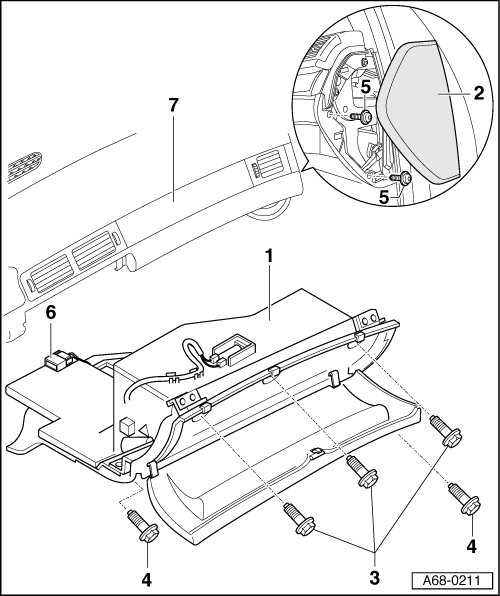 Audi Workshop Manuals > A2 > Body > Fitting instructions