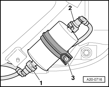 Audi Workshop Manuals > A2 > Power unit > Fuel supply
