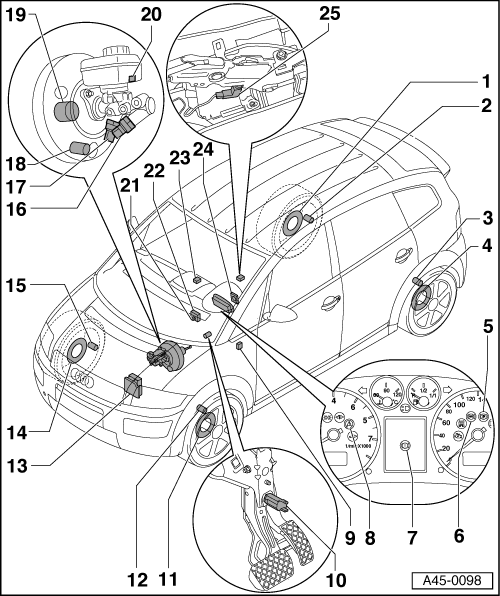 Audi Workshop Manuals > A2 > Brake system > ABS, ADR, TCS