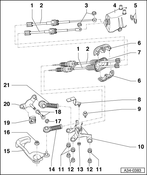 Audi Workshop Manuals > A2 > Power transmission > 5-speed
