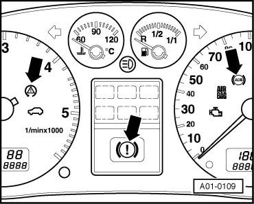 Audi Workshop Manuals > A2 > Running gear self-diagnosis