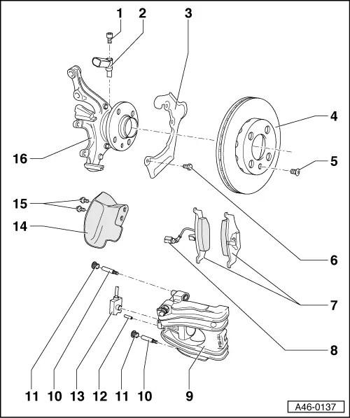 Audi Workshop Manuals > A2 > Brake system > Brake, brake