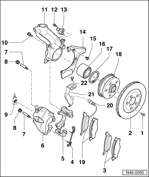 Audi Workshop Manuals > A3 Mk1 > Brake system > Brake