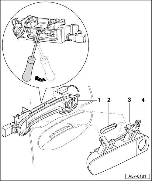 Service manual [2010 Audi A3 Front Door Handle Removal