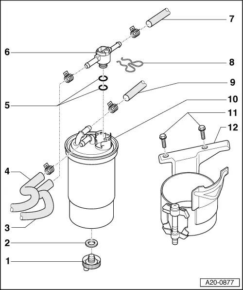 Audi Workshop Manuals > A3 Mk1 > Power unit > Fuel supply