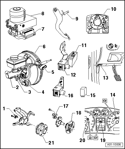 Audi Workshop Manuals > A3 Mk1 > Running gear, Self