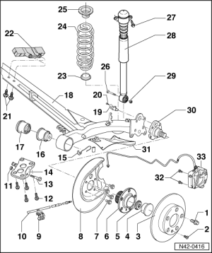 Audi Workshop Manuals > A3 Mk1 > Running gear, frontwheel