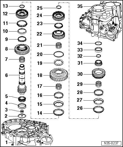 Audi Workshop Manuals > A3 Mk1 > Power transmission > 6