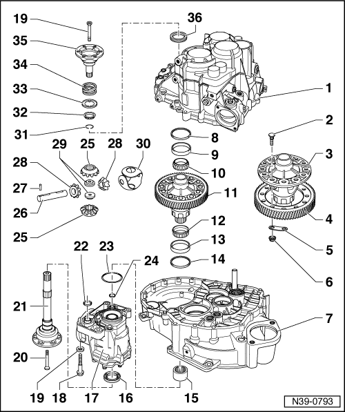 Audi Workshop Manuals > A3 Mk1 > Power transmission > 5/6