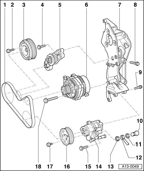 Audi Workshop Manuals > A3 Mk1 > Running gear, front-wheel