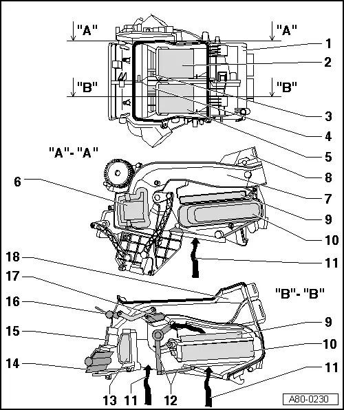 Audi Workshop Manuals > A3 Mk2 > Heating, ventilation, air