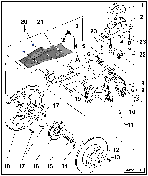 Audi A3 8p Rear Suspension Diagram