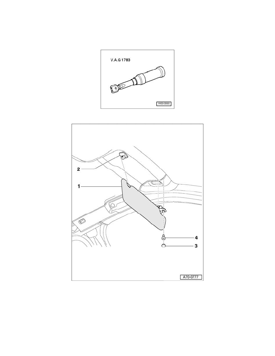 Audi Workshop Manuals > A4 V6-3.0L (AVK) (2004) > Body and