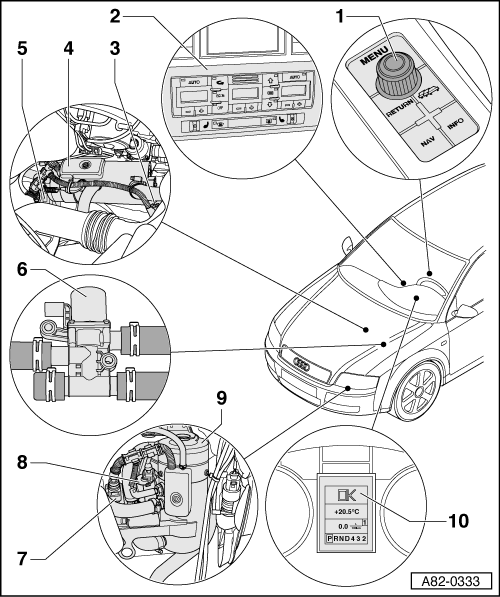 Audi Workshop Manuals > A4 Cabriolet Mk2 > Heating