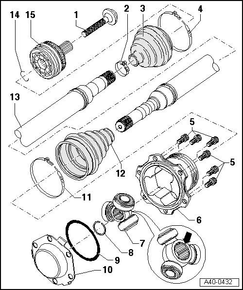 Audi Workshop Manuals > A4 Cabriolet Mk2 > Running gear