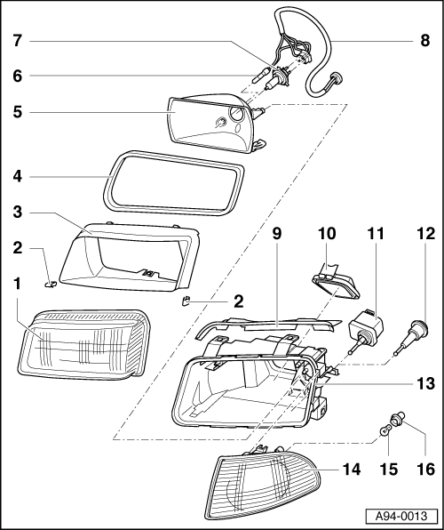 Audi Workshop Manuals > A4 Mk1 > Vehicle electrics