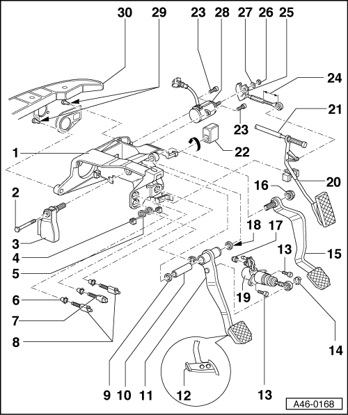 Audi Workshop Manuals > A4 Mk1 > Brake system > Brake