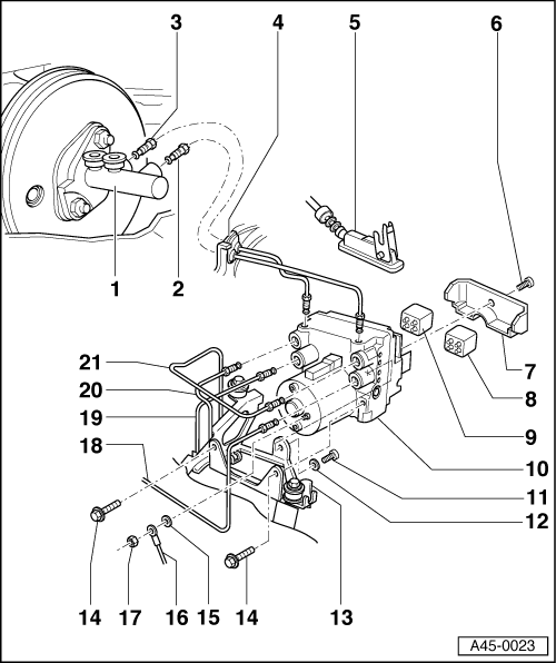 Audi Workshop Manuals > A4 Mk1 > Brake system > ABS, ADR