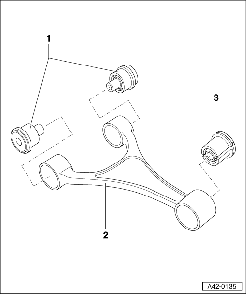 Audi Workshop Manuals > A4 Mk1 > Running gear, front-wheel