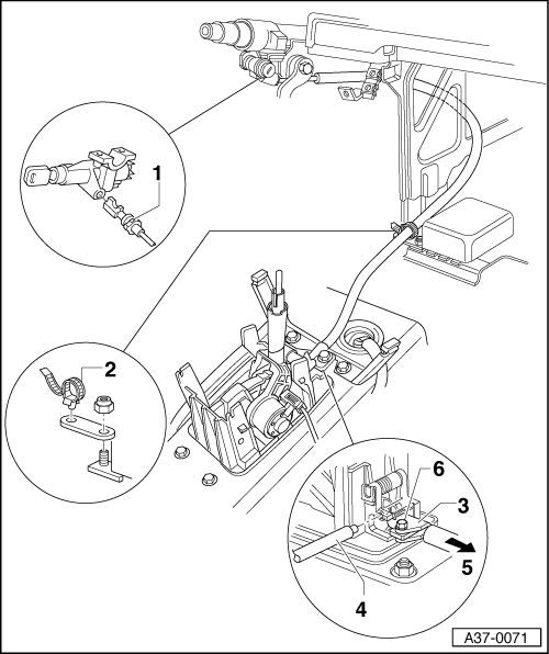 Service manual [1997 Audi A4 Gear Shift Mechanism