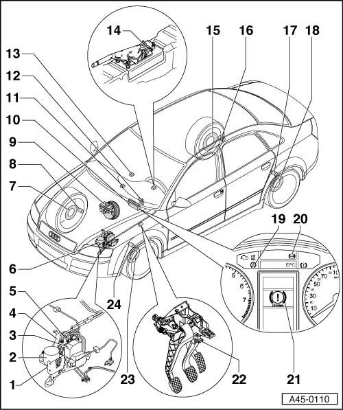 Audi Workshop Manuals > A4 Mk2 > Brake system > ABS, ADR
