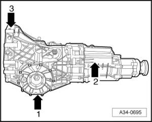 Audi Workshop Manuals > A4 Mk2 > Power transmission > 6speed manual gearbox 02X, fourwheel