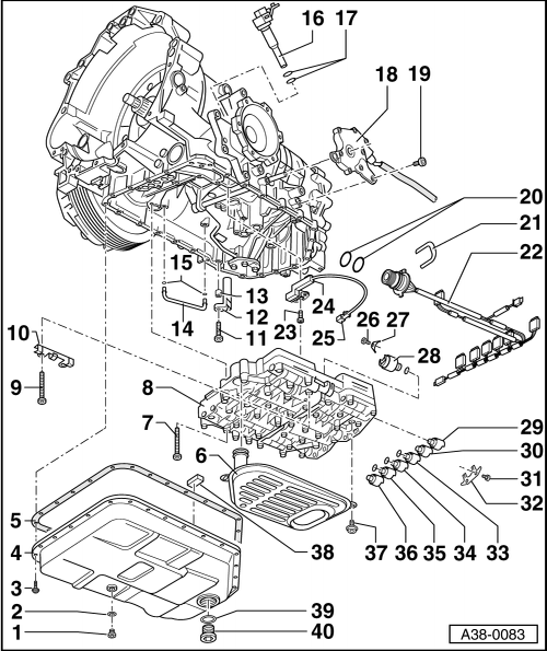 Audi Workshop Manuals > A4 Mk2 > Power transmission > Automatic gearbox 01V, front-wheel drive