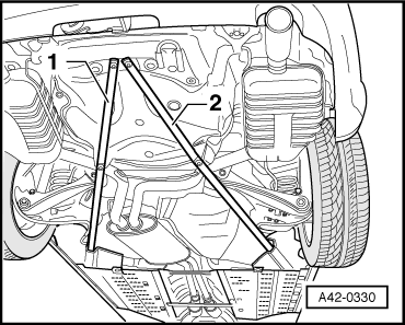 Audi Workshop Manuals > A4 Mk2 > Running gear, front-wheel