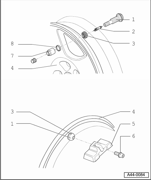 Audi Workshop Manuals > A4 Mk2 > Running gear, front-wheel