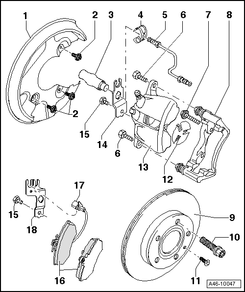 Audi Workshop Manuals > A4 Mk2 > Brake system > Brake