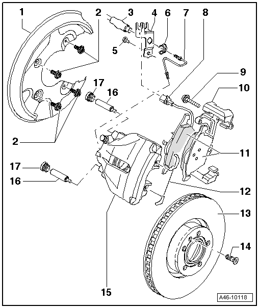 Audi Workshop Manuals > A4 Mk2 > Brake system > Brake