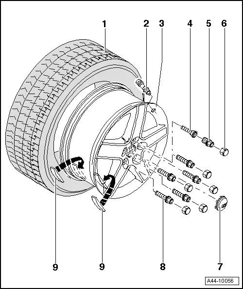 Audi Workshop Manuals > A4 Mk2 > Wheels and tyres > Wheels