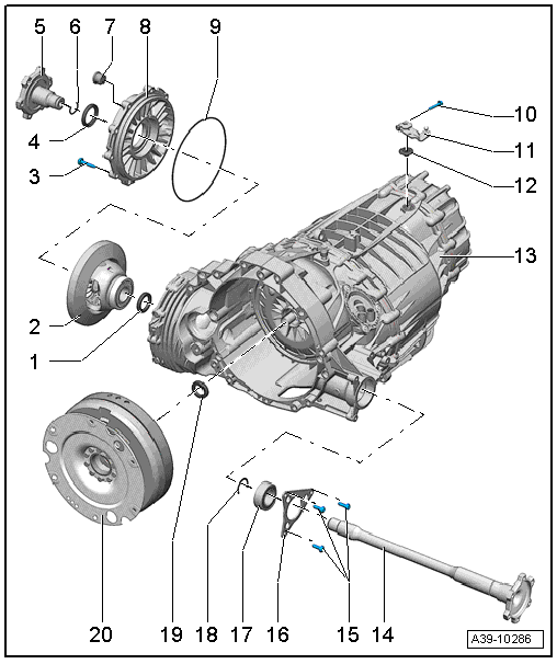 Audi Workshop Manuals > A4 Mk3 > Power transmission > Servicing multitronic 0AW > Final drive